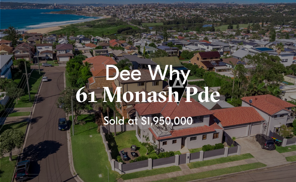 Text Box: 65 Mcintosh Road, Dee Why SOLD ? - 133 Enquiries  - XX Virtual Tours - 31 private physical inspections - 14 Contracts issued